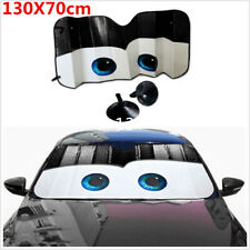 1Pcs Black Cartoon Eyes Foldable Car Front Windshield Cover Sun Shade Protector