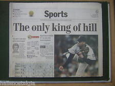 9/11/1999 Boston Globe Sports Section -Martinez Whiffs 17 in One-Hit Masterpiece