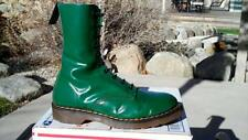 80s Vintage Dr Martens Hawkins Green 10eye boots size US 8 shoes doc 1490 gt uk6