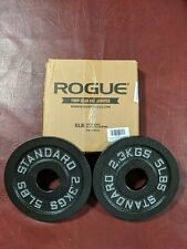 Rogue Standard Barbell 5lb *Pair* Olympic Change Weight Plates NEW IN BOX