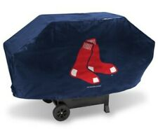 "Boston Red Sox  MLB Navy Team ""Hanging Socks"" Logo 68'' Heavy Duty Grill Cover"