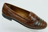 Giorgio Brutini Mens Brown Leather Slip On Loafer Shoes Size 10D Striped  Brazil
