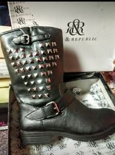 Rock & Republic womans studded boots.  Great motorcycle boots or casusl.