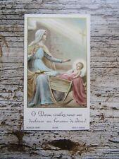 IMAGE PIEUSE ANCIENNE : o marie, révélez-nous vos douleurs au berceau de Jésus !