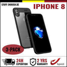 3IN1 Auto Focus Cover Cas Coque Etui Silicone Hoesje Case Black For iPhone 8