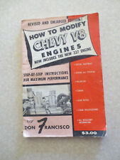 Vintage 1960s How to modify Chevrolet V8 engines hot rod book