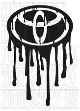 Dripping TOYOTA logo decal sticker vinyl Hi LUX Surf RAV4 celica MR2 supra yaris
