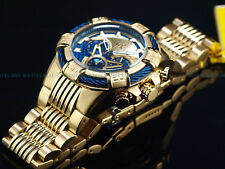 New Invicta Men's 50mm MIGHTY BOLT Quartz Chronograph Blue GF Dial Twisted Watch