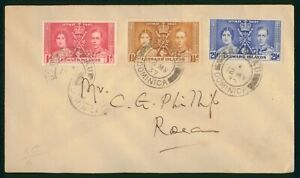 Mayfairstamps Dominica 1937 Rosseau Coronation Set First Day Cover wwp73167