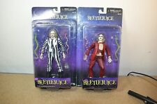 NECA CULT CLASSICS BEETLEJUICE RED & STRIPPED SUIT Action Figures - Card Backed