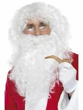 Père Noël 4 Pièce Instantané Déguisement Kit Barbe Perruque Lunettes Tube