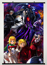 Poster Fabric Painting For Anime Overlord Key Roles Collection Wall Scroll40*60c