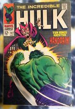 INCREDIBLE HULK #107 (1968) Mandarin / SHIELD - Marvel Comics