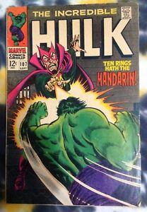 INCREDIBLE HULK #107 (1968) Mandarin / SHIELD - Marvel Comics