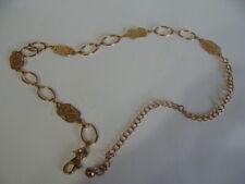 Vintage Women's Gold Tone Link Chain Adjustable Belt
