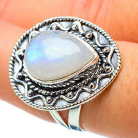 Rainbow Moonstone 925 Sterling Silver Ring Size 7.75 Ana Co Jewelry R32957F