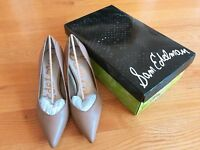 Sam Edelman Women High Heel Pump Orella Camel Leather Shoes Brand New with box