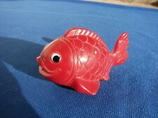 VTG Lehmann LOLO Plastic FRICTION Toy Red FISH #911 GERMANY