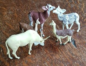 Britain's and Other Plastic Zoo Animals including Eland, llama and others