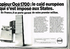 PUBLICITE ADVERTISING 065  1980  le copieur OCE 1700  ( 2 pages)