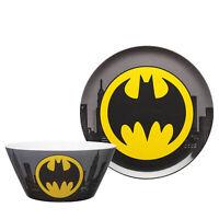 Zak Designs DC Comics Dinnerware Plate Bowl  Batman 2 pcs Set