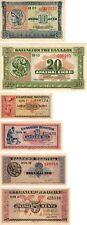 Grecia-Set 6 x monete banconote 1940 1941 UNC Grade-Seconda Guerra Mondiale l'Europa, DRACHMAI