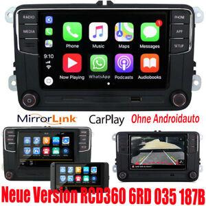 Car Stereo Radio RCD360 CarPlay GPS USB BT RVC For VW Tiguan Caddy Golf Polo EOS