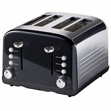 KITCHEN COLLECTION STAINLESS STEEL 4 WIDE SLICE TOASTER - BLACK