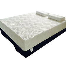 "New 8"" inch Queen Size Cool Firm Memory Foam Mattress Bed with 2 Pillows White"