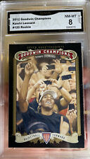 2012 Upper Deck Goodwin Champions Kawhi Leonard Rookie Card Graded All Star MVP