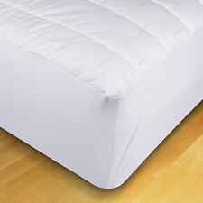 "XL Twin Fitted Mattress Pad Ideal for College Dorm Bed 39"" x 80""  EcoPure"