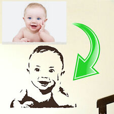 Custom Family Photo Wall Sticker Home Transfer Kids Decal Decor Stencil Graphics