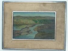 """Lake in the Hill  8"""" x 12"""" Oil Landscape1930s/40s-Vincent Canade-1879-1961"""