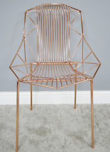 Metal Copper Accent Chair
