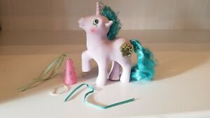 My Little Pony MLP G1 1987 Vtg Princess Ponies Princess Sparkle with damsel hat