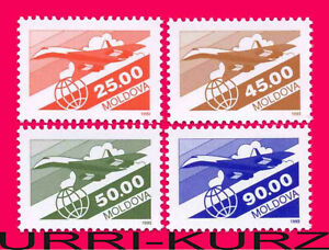 MOLDOVA 1993 Air Mail Transport Aviation Planes Airplanes Definitive 4v ScC5-C8