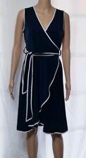 Calvin Klein NAVY BLUE & WHITE DRESS Size 6