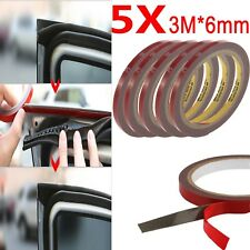 5X Auto Truck Car Acrylic Foam Double Sided Attachment Tape Adhesive 3m x 6mm