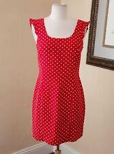 Cute Vtg Jones New York Silk Red Polka Dot Ruffle Mini Dress Sz 4 Cocktail 90s