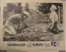 MISFITS, 1961 MARILYN MONROE AND CLARK GABLE LOBBY CARD