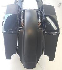 "Harley Davidson 6x9 #2 Lids Saddlebags 4""/Fender Dual Exh.  Replacement Flh"