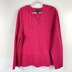 Venezia Lane Bryant Plus Size 22 24 Pink Lambswool Pullover Hoodie Sweater