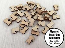 10PC 12mm Cat Wooden Laser Cut Shape Ply Blank Craft Wood Shapes Flatback Kitten