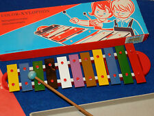 vintage COLOR XYLOPHONE VEESER 106 glockenstahl GERMANY ancien instrument MUSIC