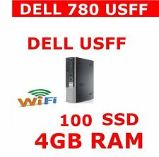 DELL 780 USFF COMPUTER PC 8GB RAM WIFI 100GB SSD WINDOWS WIRELESS READY