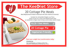 KeeDiet Meal Replacement VLCD 20 Cottage Pie Meals Weight Loss High Protein Slim
