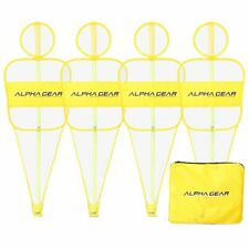 ALPHA Gear 4Pk of Defensive Mannequin Bodies YELLOW - Spring Poles Included