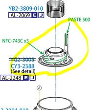 Lens Ass'y, 2nd Group part - CANON EF 24-70mm 2.8 L II USM lens