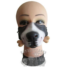 Latex Comedy Funny Faces Half Face Dog with Bone Party Birthday Stag Hen Mask