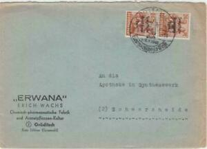 Germany Russian Zone 1948 Cottbus to Schwarzheide stamps cover R20802